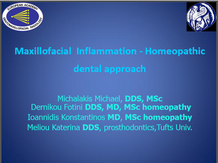 Maxillofacial Inflammation - Homeopathic dental approach